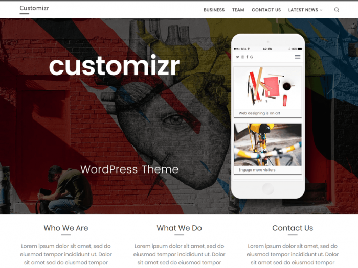 Customizr Theme Slider Instellen