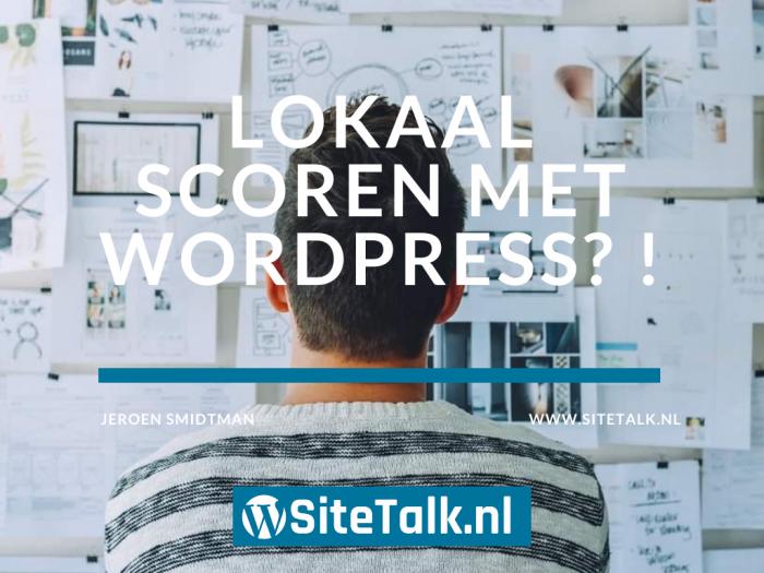 Lokaal scoren met WordPress