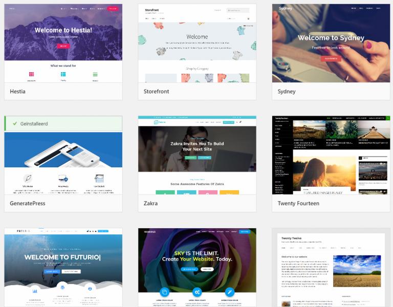 Waar vind je WordPress thema's
