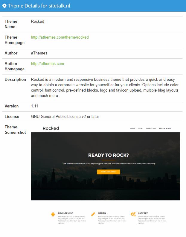 Welk WordPress theme is gebruikt