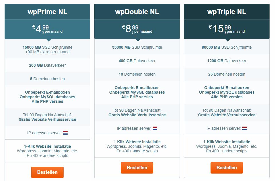 Welk hostingpakket voor WordPress